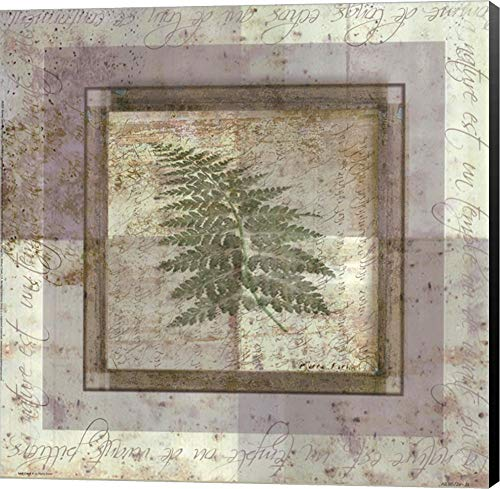 (Leaf Carre II by Pierre Fortin Canvas Art Wall Picture, Museum Wrapped with Black Sides, 12 x 12 inches)
