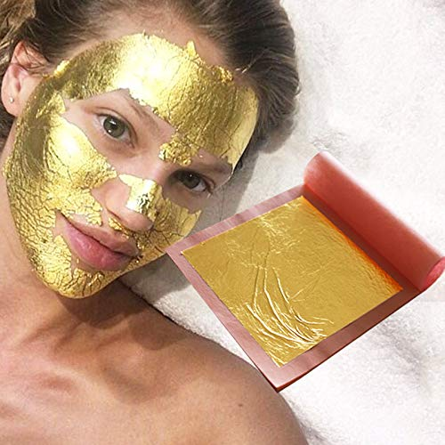 25 pcs one Booklet 8x8cm 24K Pure Gold Leaf Skin Care Facial mask The Skin Appears Drained and densified with Each Application The Skin Looks firmer and Lines are smoothed