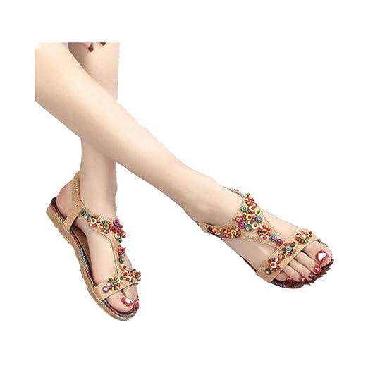 79ca3c9068932 Amazon.com: Memela Clearance sale Women Flat Sandals Summer Shoes ...