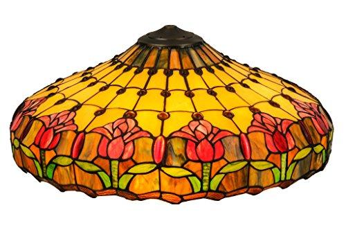 - 22 Inch W Colonial Tulip Shade , Shade Only , Meyda