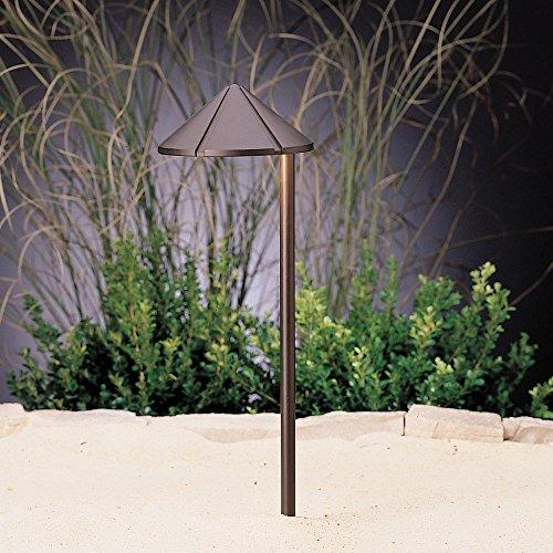 Kichler Lighting 15827BBR LED Side Mount Cast Brass Low Voltage Landscape Path and Spread Light, Bronzed Brass