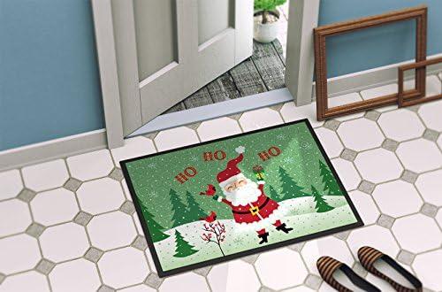 Caroline s Treasures VHA3016JMAT Merry Christmas Santa Claus Ho Ho Ho Indoor or Outdoor Mat 24×36, 24H X 36W, Multicolor