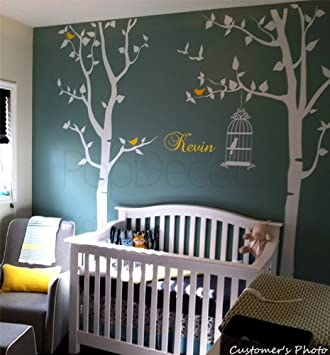 PopDecors - Nursery Tree with Personalized Kidu0027s Name Custom Beautiful Tree Wall Decals for Kids Rooms : kids tree wall decal - www.pureclipart.com