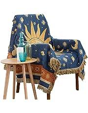 Dulcii Decorative 100% Cotton Woven Throw Blanket Sofa Towel Cotton Warm Slipcover 130 x 180cm