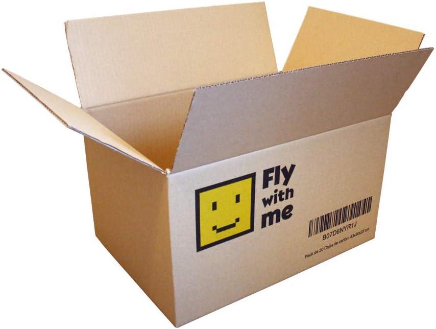 20 Cajas de Cartón Marrón/Canal Simple de Alta Calidad Reforzado/Dimensiones 43 x 30 x 25 cm (20): Amazon.es: Oficina y papelería