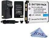Replacement Battery And Charger Kit For Fujifilm FinePix XP70 XP80, XP90, XP120 Fuji NP-45A, NP-45S Waterproof digital Cameras