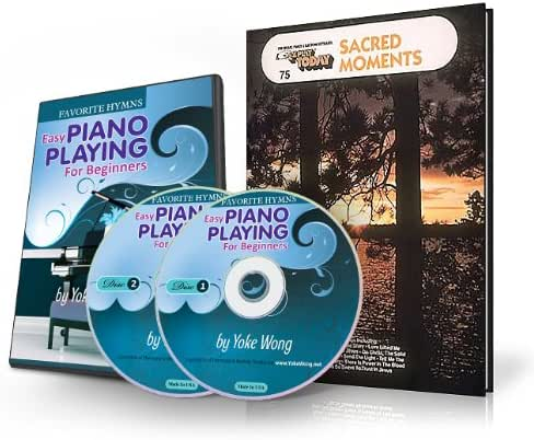 Favorite Hymns - Easy Piano Lessons for Beginners (2 DVDs, 1 Songbook) (Home Study Course)