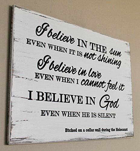 Wood Decor I Believe In The Sun Even When It Is Not Shining Sign I Believe In The Sun Sun Wall Art