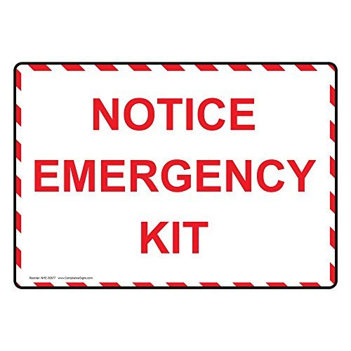 Review Notice Emergency Kit White