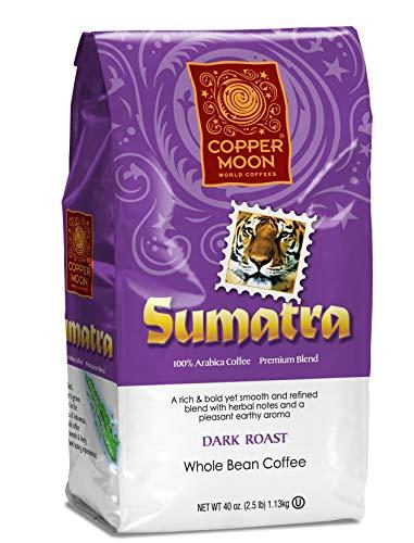 Copper Moon Coffee Sumatra Blend 2.5 pound Whole Bean 2.5 Lb Whole Beans