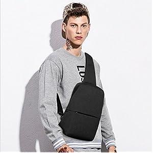 FANDARE Sling Bag Shoulder Backpack Crossbody Bag Single One Strap Backpack Running Cycling Hiking Outdoor Travel Men/Women Polyester Black