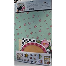 """Mary Engelbreit's Scrapbook Page Kit ... To Imagine is Everything ... kit includes All Acid-Free Materials: stickers, cut-out shapes, paper """"frames"""", illustrated sheets and colored paper--enough to make at least 6 pages"""