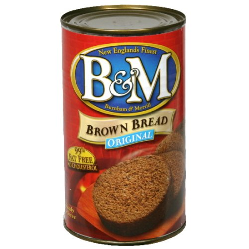 B&M Bread Plain Brown, 16-Ounce (Pack of 6) made in New England