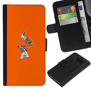 "A-type (Samurai Batalla"") Colorida Impresión Funda Cuero Monedero Caja Bolsa Cubierta Caja Piel Card Slots Para Sony Xperia Z1 Compact / Z1 Mini (Not Z1) D5503"