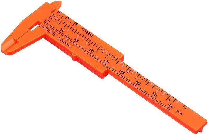 5er Messschieber Kunststoff Schieblehre Set Lineal 80mm Messgerät Schmuck