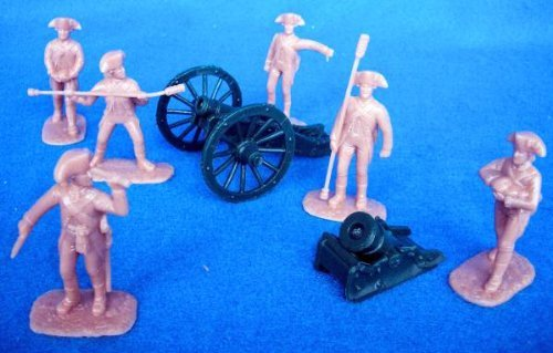 Armies in Plastic American Revolutionary War Continential Artillery Offered By Classic Toy Soldiers Inc