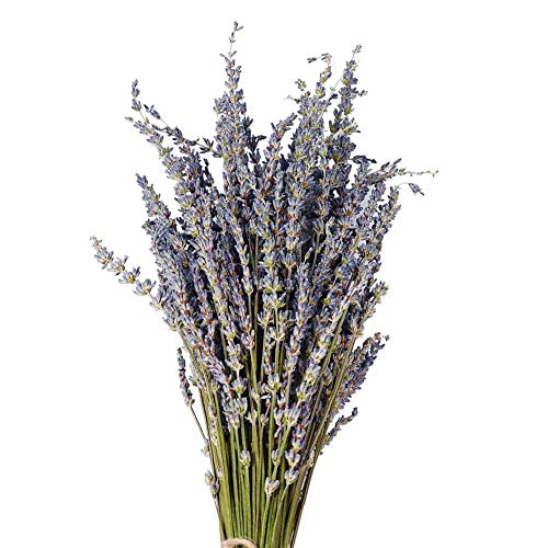 U-smile Lavender Bouquet Dried Flowers for Valentine's Day Mother's Day Wedding Birthday Decoration