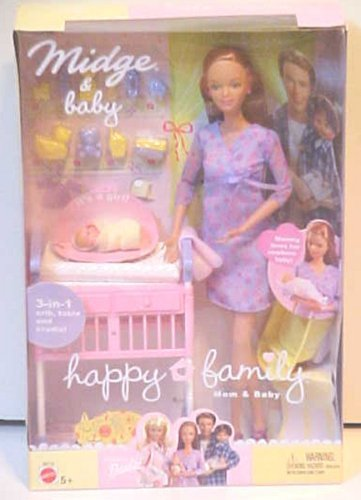 Barbie Happy Family Pregnant Midge & Baby (Alan Midge Barbie And)