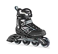 Rollerblade Damen Inlineskate Zetrablade W, Black/Light Blue, 25.5, 07503300 821