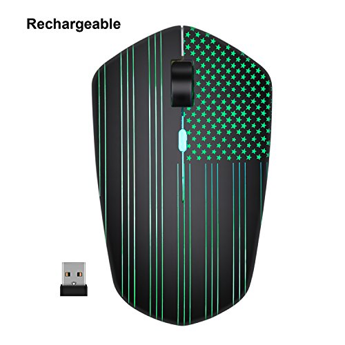 Rechargeable cordless mouse powered by rechargeable Li-polym