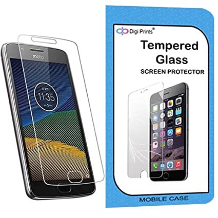 Digiprints 0.33 MM Pro Plus Tempered Glass Screen Protector For Motorola Moto G5 Mobile Accessories