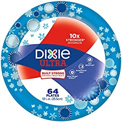 Dixie Ultra Paper Plates Pack of 64 Count Large Dinner Size (10 1  sc 1 st  Amazon.com : large disposable plates - pezcame.com