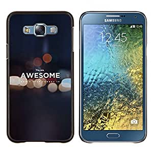 Stuss Case / Funda Carcasa protectora - City Night Lumières Blurry - Samsung Galaxy E7 E700