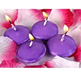 Distinct® 4pcs Water Floating Candles Home Decoration Wedding Birthday Party Dedals Paraffin Wax Candles (Purple)