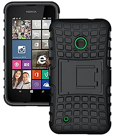 buy online 71c3c 01d65 Nokia Lumia 530 Case - ALLIGATOR Heavy Duty Back Cover for Nokia Lumia 530,  Black