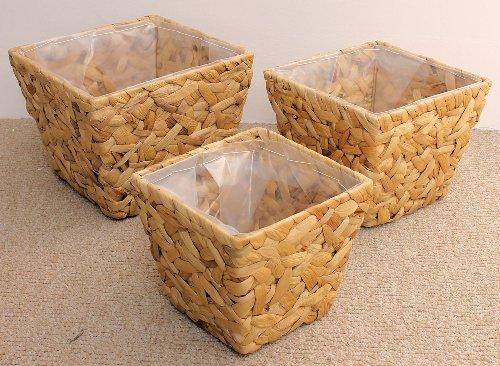 3er Set Übertöpfe / Blumenkübel Wasserhyazinthe inkl. Ausschlag