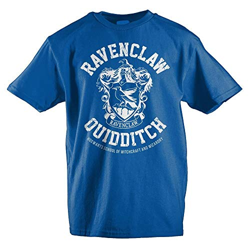 HARRY POTTER Gryffindor Slytherin Ravenclaw Hufflepuff Quidditch Boys Youth T-Shirt(Ravenclaw,Large)
