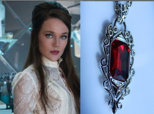 kupai The city of bones Ruby said Isabelle Lightwood pendant necklace jewelry