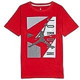 Boys Youth Jordan AJ Block T-Shirt Red Medium