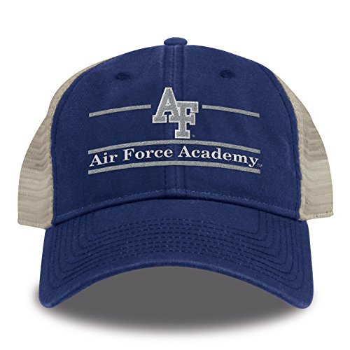 The Game NCAA Air Force Falcons Split Bar Design Trucker Mesh Hat, Royal, Adjustable