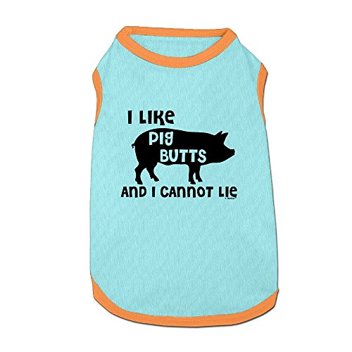I Like Pig Butts Puppy Dogs Shirts Costume Pets Clothing Warm Vest T-shirt (Pig Costumes For Large Dogs)