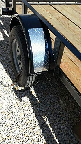 Small Boat Trailer Diamond Plate Fender Covers horse trailer. - Plates Utility