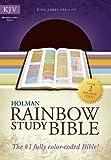 KJV Rainbow Study Bible Brown Bonded Leather