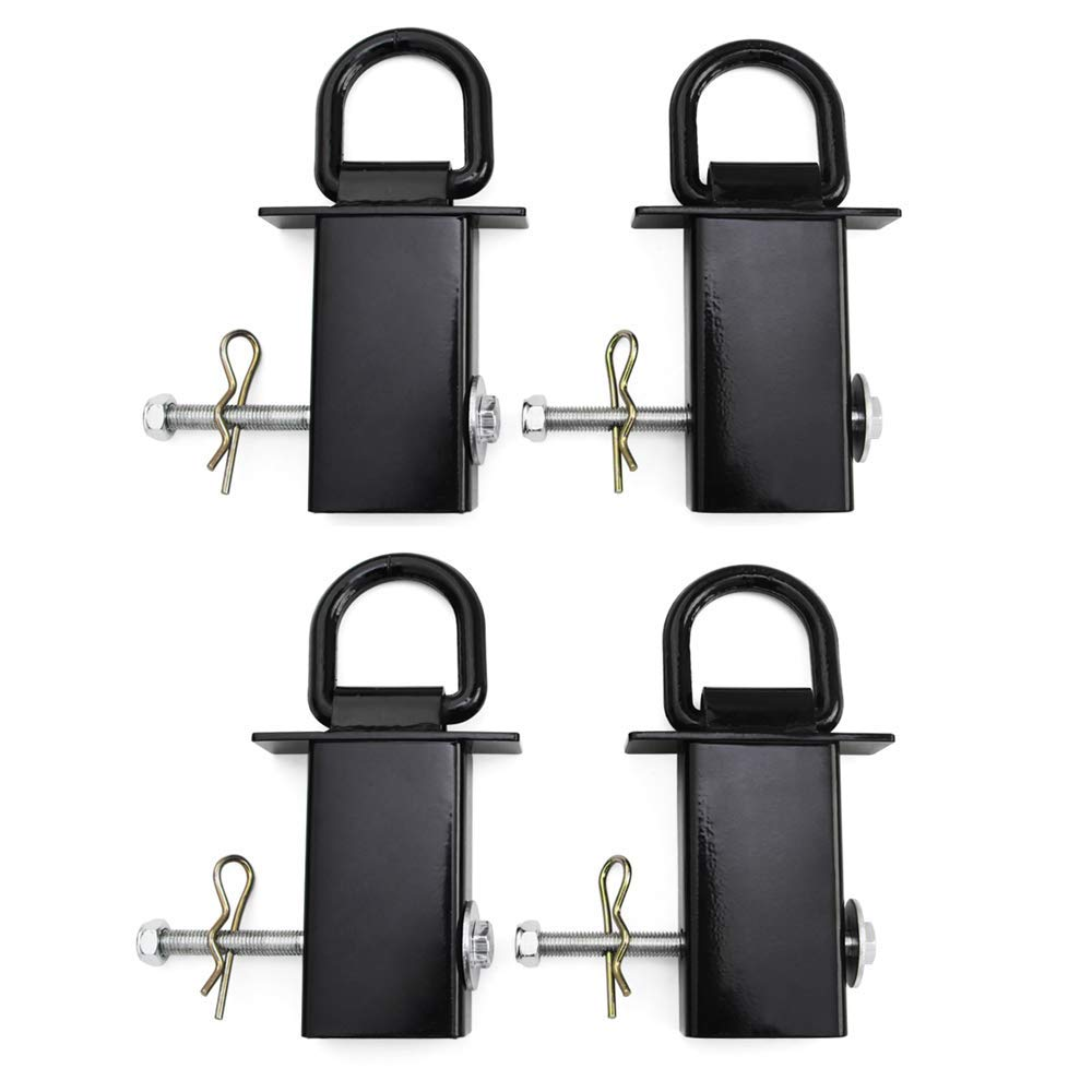 Hydraker 4Pcs Heavy Duty Removable D-Ring Stake Pocket Tie Down Fit for Utility Trailers//Flatbeds with Hitch Pin 4