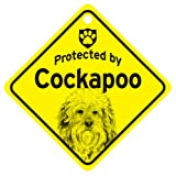 KC Creations Cockapoo Protected By Dog Sign And Caution Gift
