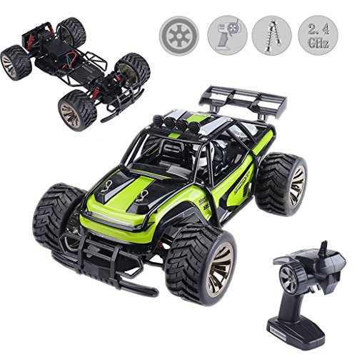 Jujuism Electric Race Remote Control 1:16 Scale Monster Truck 2.4GHz Radio 2WD High Speed Racing Off Road Vehicle Desert Buggy Crawler Hobby Car Toy Gift