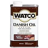 Watco 65351 Danish Oil Wood Finish, Pint, Black Walnut