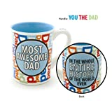 Enesco Our Name is Mud by Lorrie Veasey 16-Ounce Most Awesome Dad Mug