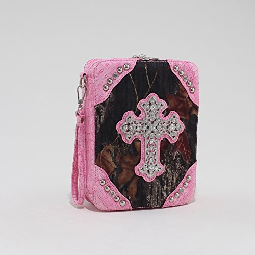 Realtree ® Pink Camo Cross Accent Bible Case