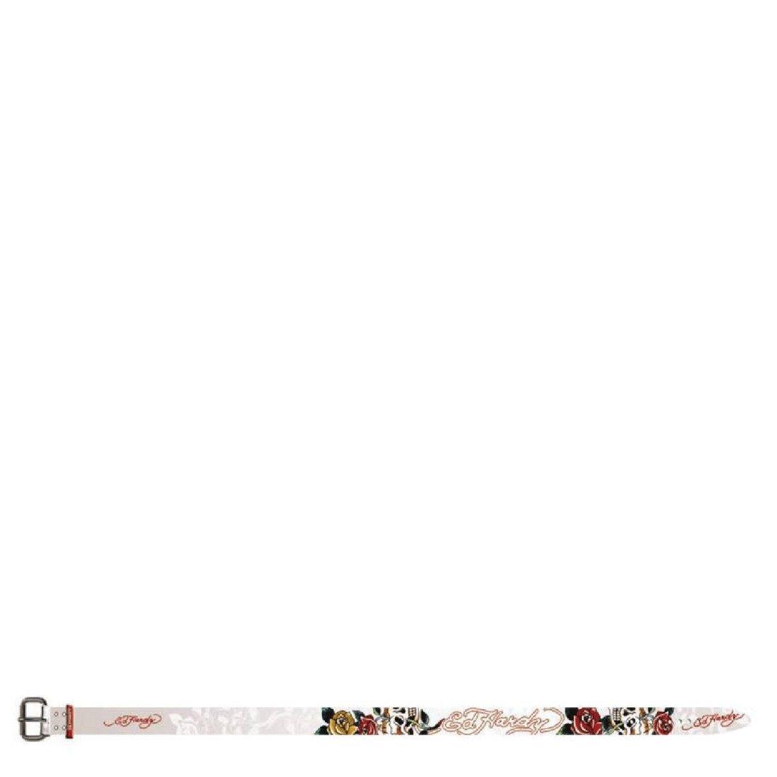 Ed Hardy Girls Skull-Rose Leather Belt
