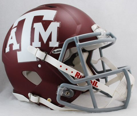 Riddell Texas A&M Aggies Revolution Speed Pro Line Helmet Authentic Pro Line Revolution Helmet
