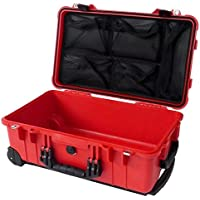 Red & Black Pelican 1510 with 1519 Lid organizer. No foam.
