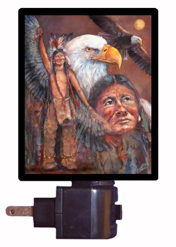 - Native American Night Light, Invoking The Eagle Spirit