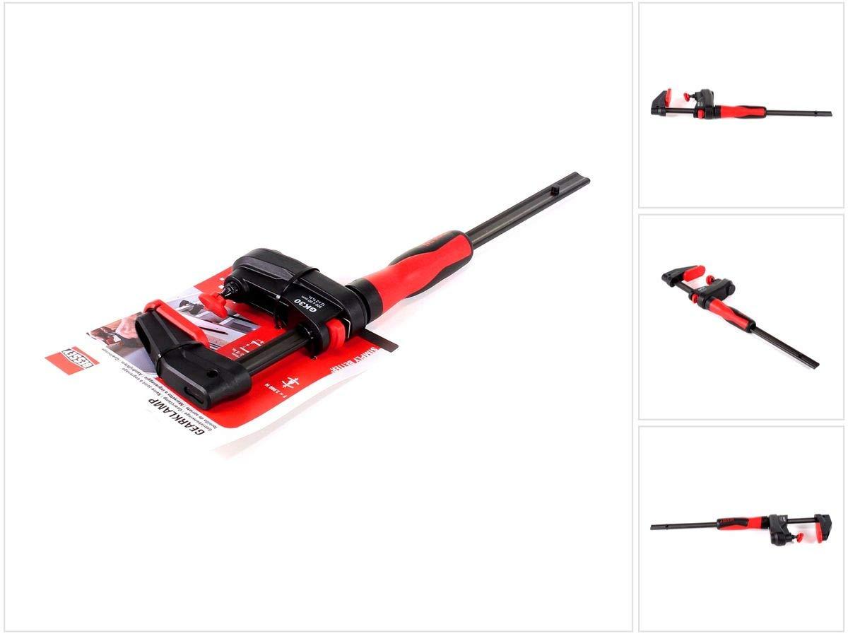BESSEY GearKamp Abrazadera de barra 300mm Rojo, Negro - Abrazaderas (Abrazadera de barra, 30 cm, De plá stico, Rojo, Negro, 1-300 mm, 1 mm) De plástico GK30