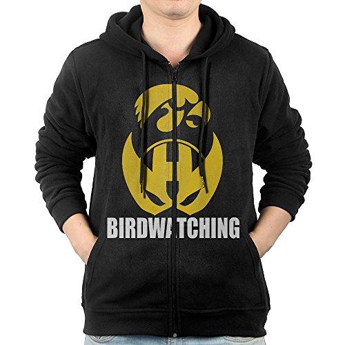 [SFG Men's University Of Iowa Birdwatching Mountain Climbing Particular Hoodie Hoodies Leisure Style S Black] (Iowa Hawkeye Mascot Costume)