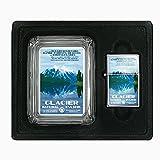 Glass Ashtray Oil Lighter Gift Set Vintage Poster D-033 Glacier National Park